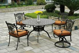 Furniture Classic Look Wrought Iron Patio Dining Set Nu