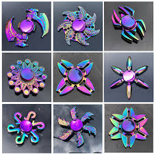 New Zinc Alloy Colorful Fidget Spinner <b>High Quality Anti</b> Anxiety ...