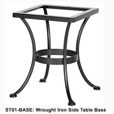 wrought iron side table. OW Lee Standard Wrought Iron Side Table Base - ST01-BASE P