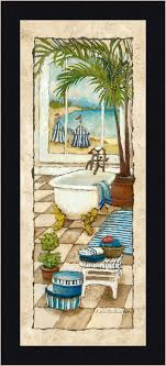 Framed Art Bathroom Day In Paradise Ii Charlene Olson 20x8 Tropical Bathroom Decor Art