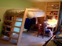 image of loft bed with desk underneath ideas
