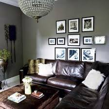 grey walls living room brown couch