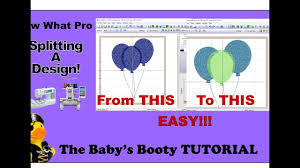 Sew What Embroidery And Designs Sew What Pro Tutorial Splitting Embroidery Designs Easy Step By Step