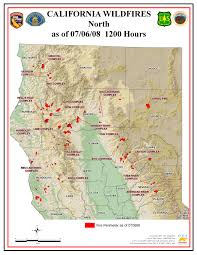 map of ca fires  my blog