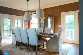 slipcovers for parsons chairs dining room beach style with dining pendants large pendant lights restoration hardware
