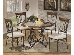 Round Marble Table Set Signature Design By Ashley Hopstand 5 Piece Round Dining Table Set