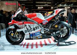 Motorcycle Display Stand Ducati Motogp Andrea Dovizioso On Display Stock Photo 100 89