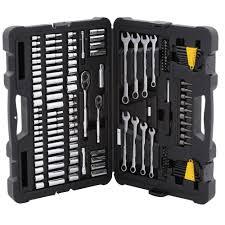 stanley tool kit. stanley mechanics tool set (145-piece) kit c