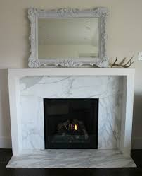 minus the mantle sleek marble fireplace surround