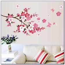 cherry blossom tree room decor bedroom home design ideas