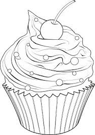 cupcakes drawing black and white. Brilliant Drawing Cupcake Drawing Designs Inside Cupcakes Black And White