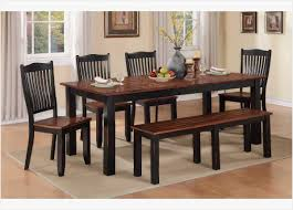 carson 6 piece dining set with bench by winners ly rustic kitchen table set
