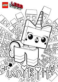 The Lego Movie Unikitty Coloring Page