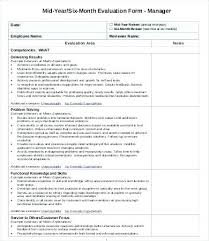 Restaurant Employee Performance Evaluation Form Employee Performance Evaluation Template Free Form Word