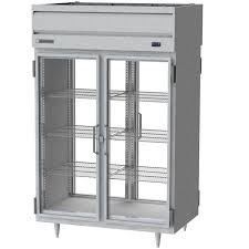 beverage air prd2 1bg led 52 stainless steel glass door pass through refrigerator