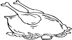 Cooked Chicken Coloring Page At Getdrawingscom Free For Personal
