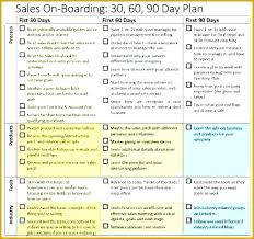 Sales And Marketing Plan Template Free Download Day 90 30 60
