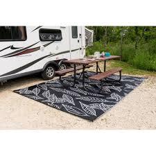 bbnia arctic reversible rvcampingpatio mat blackwhite camping outdoor rugs