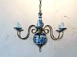 full size of vintage white metal chandelier blue delft ref for and chandeliers porcelain brass