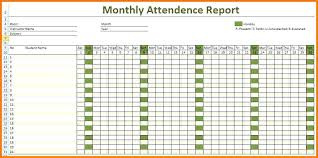 Weekly Attendance Register Template Employee Attendance Sheet Excel Monthly Record Template Free