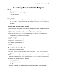 Game Design Document Template Figure 1 9 Game Design Document Template