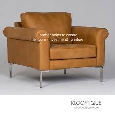 light brown leather chair metal trim