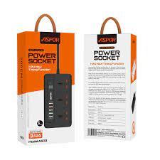 ASPOR - Aspor Power Sockets -5USB+3Sockets -Set the timer...
