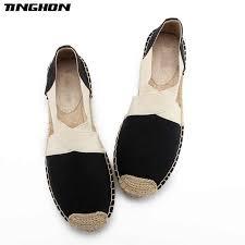 <b>TINGHON NEW</b> Fashion Simple Style Ethnic Casual Espadrilles Flat ...