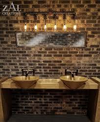 industrial bathroom vanity lighting. Perfect Industrial Industrial Bathroom Vanity Lighting 6 Bulb Light Fixture Fixtures Throughout