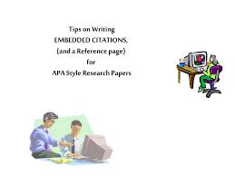 Ppt Tips On Writing Embedded Citations And A Reference