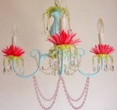 whimsical lighting fixtures. five arm whimsical beaded chandelier in white with pink shades lighting fixtures m
