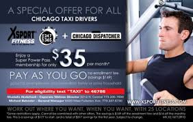 xsport fitness offers corporate memberships to chicago taxi drivers union ctdu
