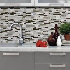 Smart Tiles Kitchen Backsplash Smart Tiles Grigio 1006 In X 1000 In Peel And Stick Mosaic