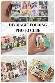 folding photo cube from dollar alphabet blocks