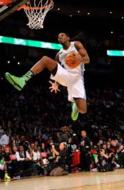 kenneth faried of the denver nuggets makes an attemp at the slam dunk during nba