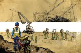 essays on inequality rob garrett curator molly crabapple construction crew on happiness island abu dhabi 2014
