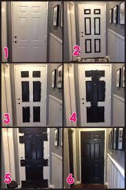 How To how to paint a door with a roller images : Hallway Makeover Part 2 – Black Doors! | Paint doors black ...
