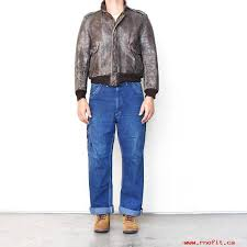 mens clothes vintage 1950s 50s grais front quarter horsehide brown leather zip jacket er jacket g1 style beat up worn wild ones flight jacket rrl