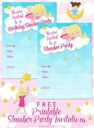 Printable Slumber Party Invitations Allfreepapercrafts Com