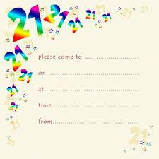 B Day Invitation Cards 21st Rainbow Foil Birthday Party Invitation Cards 10pk 21st Party Invitations Pack Of 21st Birthday Invitations 21st Birthday Invites
