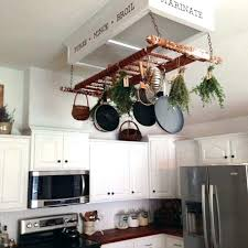 diy pot rack pipe hanging racks throughout kitchen pan ideas creative to make your unique within