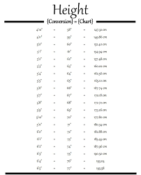 Printable Height Chart In Inches Template Business Psd