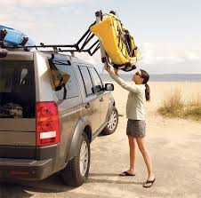 the thule hullavator assists in loading your kayak