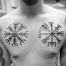 70 Viking Compass Tetovací Vzory Pro Muže Nápady Na Inkoust Vegvísir