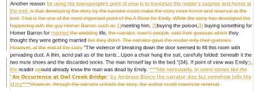 essay about different point of view about the story a rose for emily how close do you think the townspeople were to emily was the narrator a participant or nonparticipant as you put it