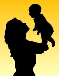 Image result for mother and baby nursing silhouette