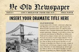 Vintage Word Newspaper Template ~ Flyer Templates ~ Creative Market