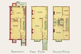 linear architectural plan and layout for a victorian townhouse c 1887 basement