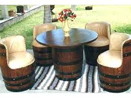 wine barrel outdoor furniture. Wine Barrel Outdoor Furniture Old Chair Ideas Barrels Table .