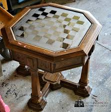 for daniel a coffee table with a built in chess board and i love